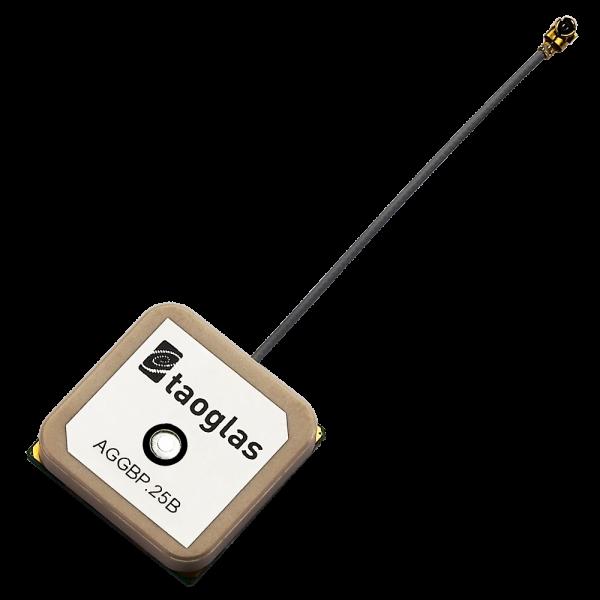 AGGBP.25B GPS/GLONASS/GALILEO/BeiDou 2 Stage Active Patch 25.1*25.1*7.9mm, 60mm Ø1.13