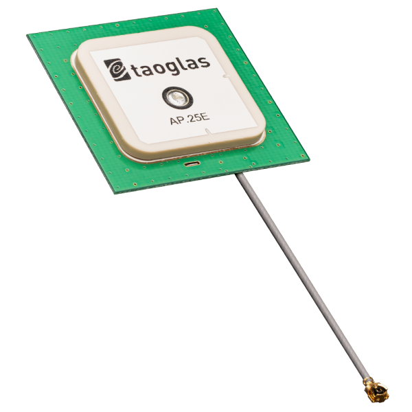 AP.25E GPS/GALILEO 1 Stage Active 25mm Patch on 35mm Ground Plane 35*35*4.5mm, 54mm Ø1.13