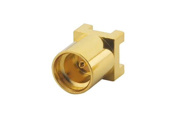 MMCX Straight PCB Mount, Jack, Gold