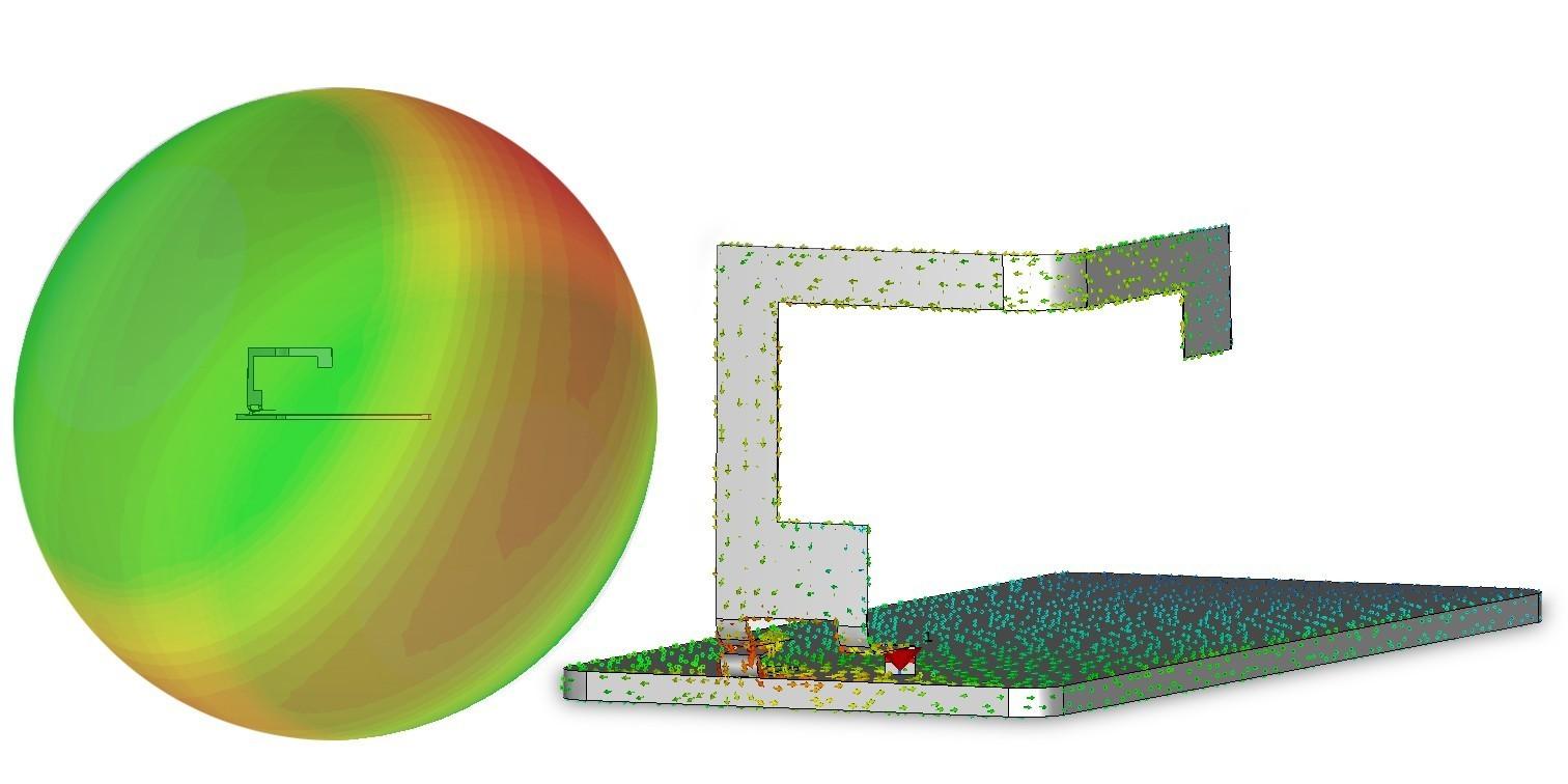 (经过优化的 CST 电磁场和当前模型)