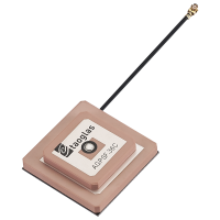 AGPSF.36C.07.0100C Active GPS L1/L2 Low Profile Stacked Patch Antenna with 100mm 1.37 and IPEX MHFHT(U.FL comp)