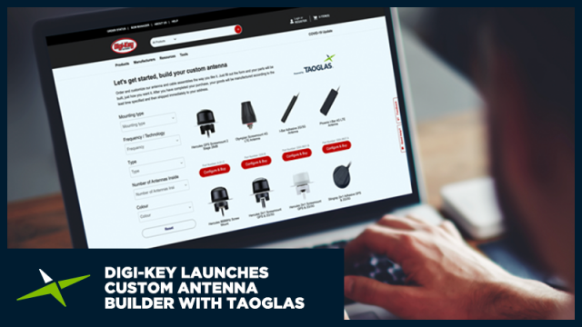 Image for Digi-Key得捷电子推出陶格斯业界首创天线定制系统